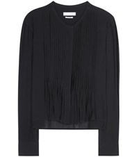 Isabel Marant Etoile Koch Pleated Blouse Black