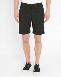 M.Studio Black Paul Fitted Cotton Shorts
