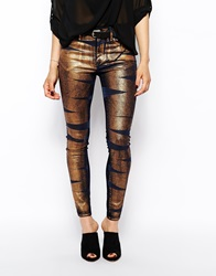 Vivienne Westwood Anglomania Jeans Skinny Jeans With Bondage Print Multi