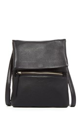 Perlina Ellena Leather Crossbody Black