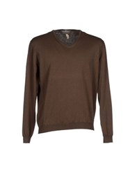 Della Ciana Knitwear Jumpers Men Cocoa