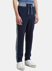 Missoni Track Pants With Contrast Waistband Navy