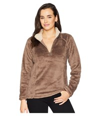 Dylan By True Grit Softest Double Face Fleece 1 4 Zip Pullover Soft Brown