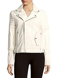 Mcq By Alexander Mcqueen Lamb Leather Moto Jacket White