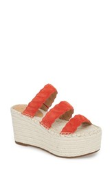 Marc Fisher Ltd Rosie Espadrille Platform Sandal Red Suede