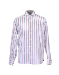 Jaggy Shirts Long Sleeve Shirts Men White