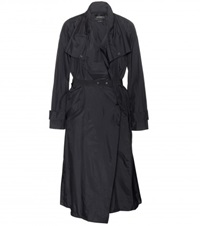 Isabel Marant Garnett Waterproof Trench Coat Black