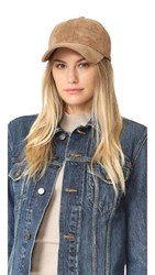 Rag And Bone Marilyn Baseball Cap Camel Suede