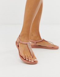 Ipanema Pop Glitter Flat Sandals Pink