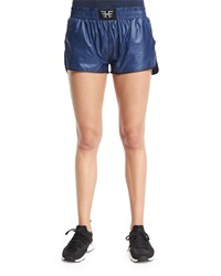 Heroine Sport Logo Front Lightweight Training Shorts Navy Black Navy W Black