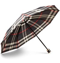 Burberry Checked Collapsible Umbrella Navy