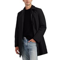 Barneys New York Insulated Balmacaan Raincoat Black