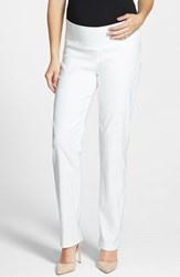 Women's Japanese Weekend 'Office' Straight Leg Maternity Pants White