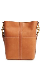 Frye Ilana Leather Bucket Hobo Brown Tan