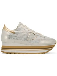 Philippe Model Eiffel Platform Trainers Gold