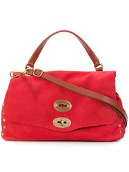 Zanellato Stud Detail Satchel Bag Red