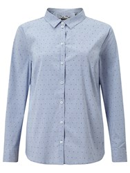 Gerry Weber Stripe Spot Shirt Blue Ecru