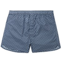 Derek Rose Roe Nelon Printed Cotton Boxer Hort Navy