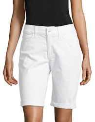 Nydj Petite Brella Rollover Cuff Shorts Optic White