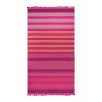Amara Striped Beach Towel Pink