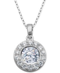 Giani Bernini Cubic Zirconia Circle Pendant Necklace In Sterling Silver