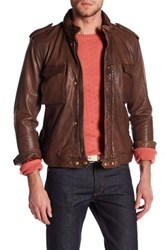 Gant Genuine Leather Army Jacket Brown