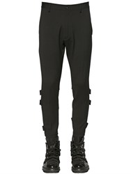 Dsquared Belted Stretch Wool Cady Biker Pants