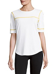 Marc By Marc Jacobs Flatlock Trimmed Cotton Tee White Multi