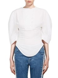 Stella Mccartney Washed Cotton Blouse Pure White
