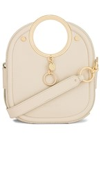 See By Chloe Mara Small Tote Leather Bag In Cream. Cement Beige
