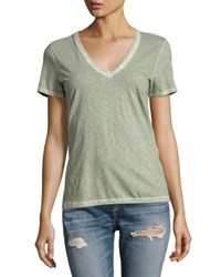 Rag And Bone Sublime Wash V Neck Tee Green