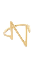 Sarah Chloe Large Heartbeat Ring Gold