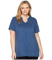 Aventura Clothing Plus Size Casia Short Sleeve Top Blue Indigo