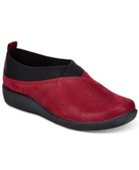 Clarks Collection Women's Cloud Steppers Sillian Greer Sneakers Women's Shoes Cherry