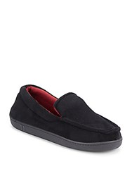 Isotoner Moc Toe Loafer Slippers Black