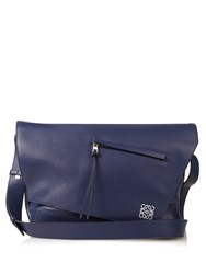 Loewe Anton Leather Messenger Bag Blue