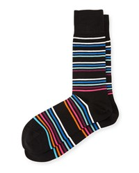 Paul Smith Mondo Multicolor Stripe Socks Black