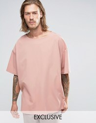 Reclaimed Vintage Oversized Cupro T Shirt Pink