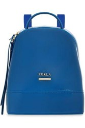 Furla Leather Trimmed Pvc Backpack Bright Blue
