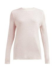 Gabriela Hearst Harius Cashmere And Silk Blend Sweater Light Pink