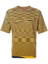 Missoni Mare Patterned T Shirt Yellow And Orange