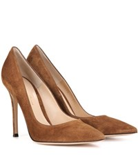 Gianvito Rossi 105 Suede Pumps Brown
