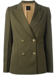Agnona Double Breasted Blazer Green
