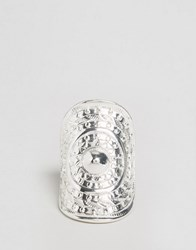 Ny Lon Nylon Chunky Embossed Ring Silver