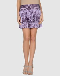 Custo Barcelona Skirts Mini Skirts Women Lilac