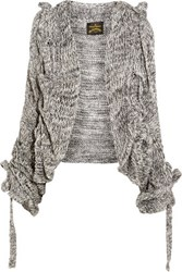 Vivienne Westwood Anglomania Cable Knit Cardigan Gray