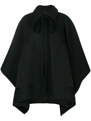 Nina Ricci Quilted Patch Cape Black