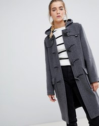 Gloverall Classic Duffle Coat With Hood Grey