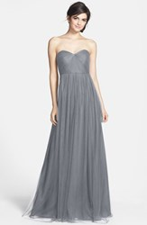 Jenny Yoo Women's 'Annabelle' Convertible Tulle Column Dress Hydrangea