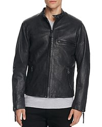 Levi's Racer Night Watch Leather Moto Jacket Blue